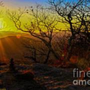 Sunset From Blood Mountain Art Print