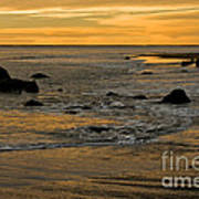 Sunset From Damon Point Art Print