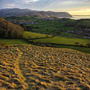 Sunset From Nant Y Gamar Art Print