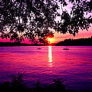 Sunset From Point Fosdick Gig Harbor Washington Art Print