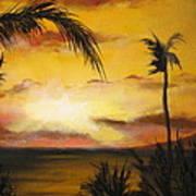 Sunset from the balconey Art Print