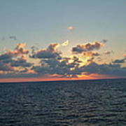 Sunset From The Carnival Triumph Art Print