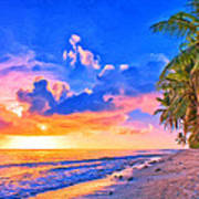 Sunset Glow On The Kona Coast Art Print