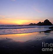 Sunset Gold Big Sur Art Print