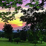 Sunset Golf Course Art Print