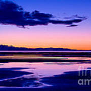 Sunset Great Salt Lake - Utah Art Print