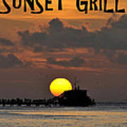 Sunset Grill Don Henley 1984 Art Print