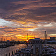 Sunset Harbor Art Print