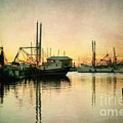 Sunset Harbor Glow Art Print