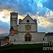 Sunset In Assisi Art Print
