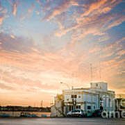 Sunset In Bari Art Print