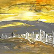 Sunset In Benidorm Art Print