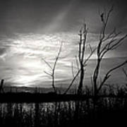 Sunset In Black And White Art Print
