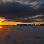 Sunset In Cape May Along The Beach Art Print
