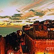 Sunset In Capoliveri - Toscany Art Print