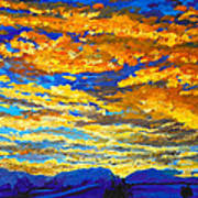 Sunset In Colorado Art Print