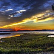 Sunset In Delaware Art Print
