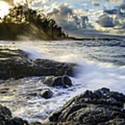 Big Island - Sunset In Hilo Art Print