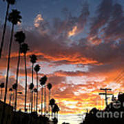 Sunset In Hollywood Art Print