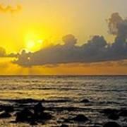 Sunset In Kauai Art Print