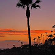 Sunset In Laguna Beach Art Print