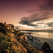 Sunset In Newport Beach Art Print
