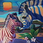 Sunset In Ngoro Ngoro Art Print