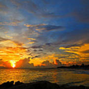 Sunset In Paradise - Beach Photography By Sharon Cummings Art Print by Sharon Cummings