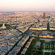 Sunset In Paris Art Print