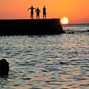 Sunset In Porto Da Barra Art Print