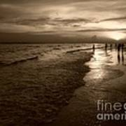 Sunset In Sepia Art Print by Jeff Breiman