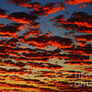 Sunset In The Clouds Art Print