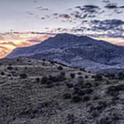 Sunset In The Davis Mountains Art Print