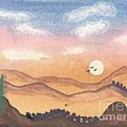 Sunset In The Hills Art Print