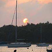 Sunset In The Port Art Print
