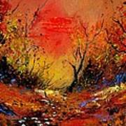 Sunset In The Wood Art Print