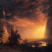 Sunset In The Yosemite Valley Art Print