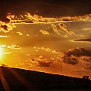 Sunset In Vernon County Art Print