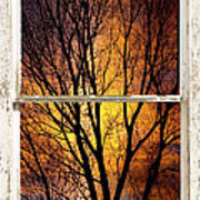 Sunset Into The Night Window View 3 Art Print