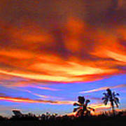 Sunset Key Largo Filtered Art Print