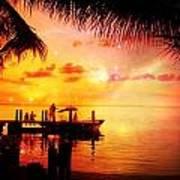 Sunset Key Largo Florida - 2 Art Print