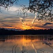 Sunset Lake Horicon Lakehurst New Jersey Art Print