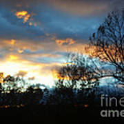 Sunset - Late Fall Art Print