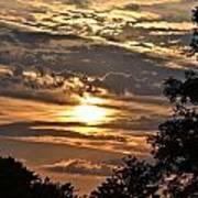 Sunset Layers Art Print