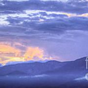 Sunset Low Clouds Art Print