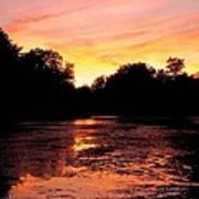 Sunset Near Rosemere - Qc Art Print
