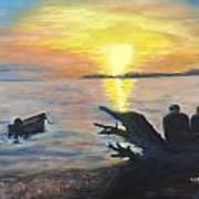 Sunset On Birch Bay Art Print