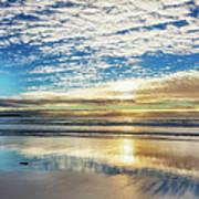 Sunset On Carmel Beach, California Art Print