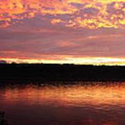 Sunset On Cayuga Lake Cornell Sailing Center Ithaca New York II Art Print