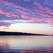 Sunset On Cayuga Lake Cornell Sailing Center Ithaca New York Art Print
